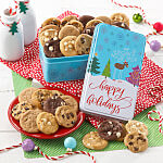 Happy Holidays 30 Nibblers Tin