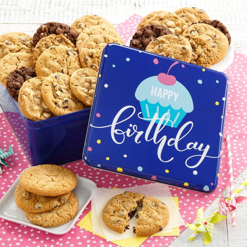 Happy Birthday Two Full Dozen Cookie Tin