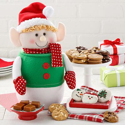 Holiday Elf Cookie Jar