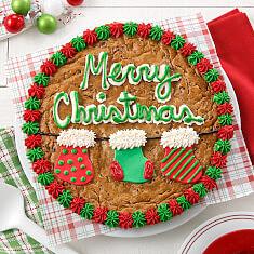 Christmas Stocking Cookie Cake