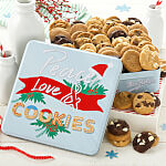 Peace Love  Cookies 60 Nibblers Tin