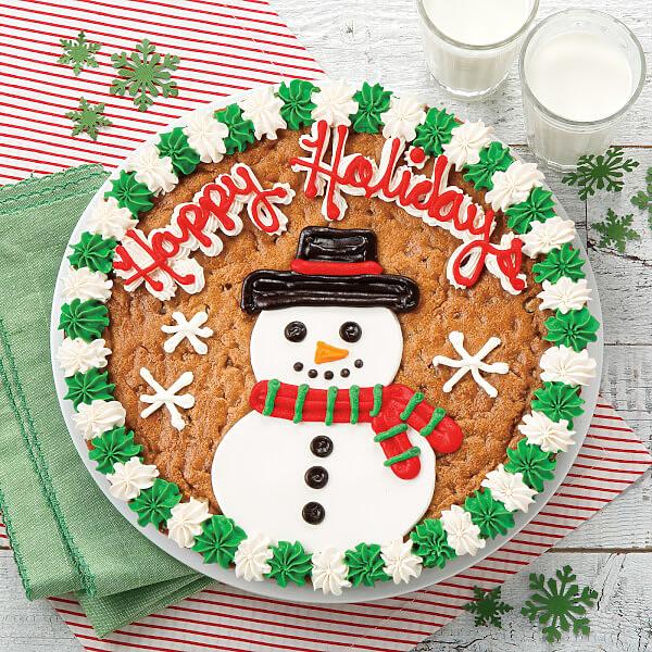 Snowman Cookie Cake