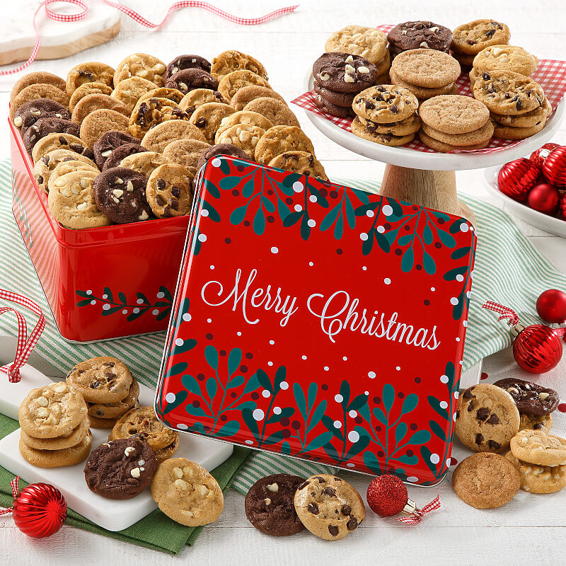 Merry Christmas 60 Nibblers No Nuts Tin