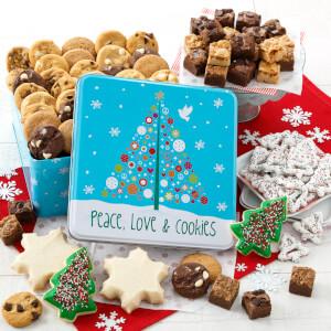 Peace Love  Cookies Large Combo Tin