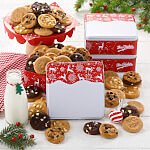 Holiday Reindeer 24 Nibblers Tin Case 20