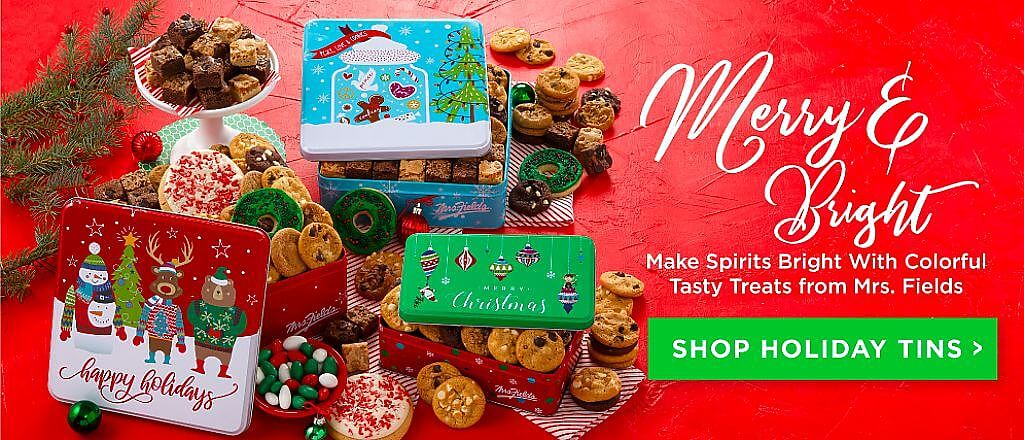 Merry And Bright Shop Holiday Gift Tins