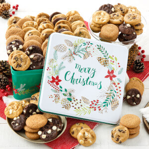 Merry Christmas 90 Nibblers Nut-Free Tin