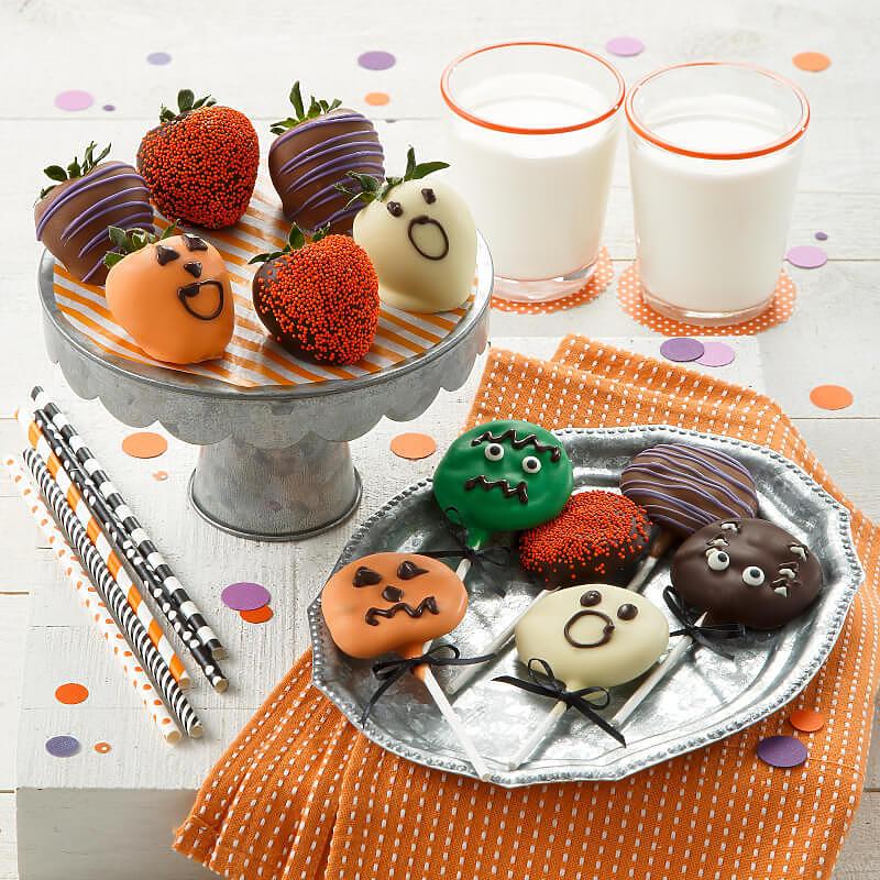 Halloween Belgian Chocolate Strawberries  Nibblers Pop