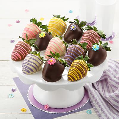 Full Dozen Spring Belgian Chocolate Strawberries