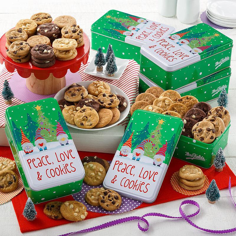 Peace Love  Cookies 30 Nibblers Case of 5
