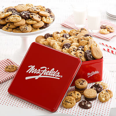 Mrs. Fields 90 Nibblers Signature Tin Nut-Free