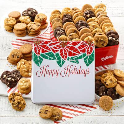 Custom Happy Holidays 90 Nibblers Tin