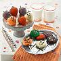 Halloween Belgian Chocolate Strawberries & Nibblers Pop