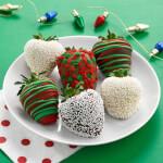 Half Dozen Holiday Belgian Chocolate Hand-Dipped Strawberries