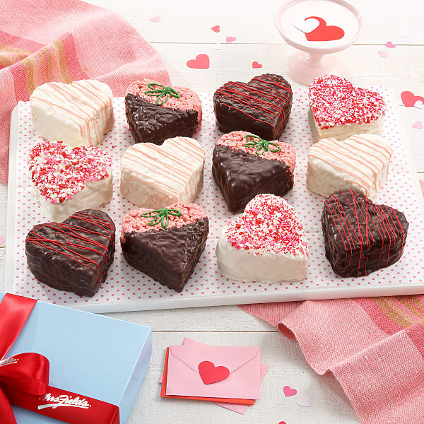 Deluxe Rice Krispie Heart Gift Box | Mrs. Fields