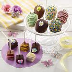 Spring Belgian Chocolate Berries  Mini Cheesecake Pop