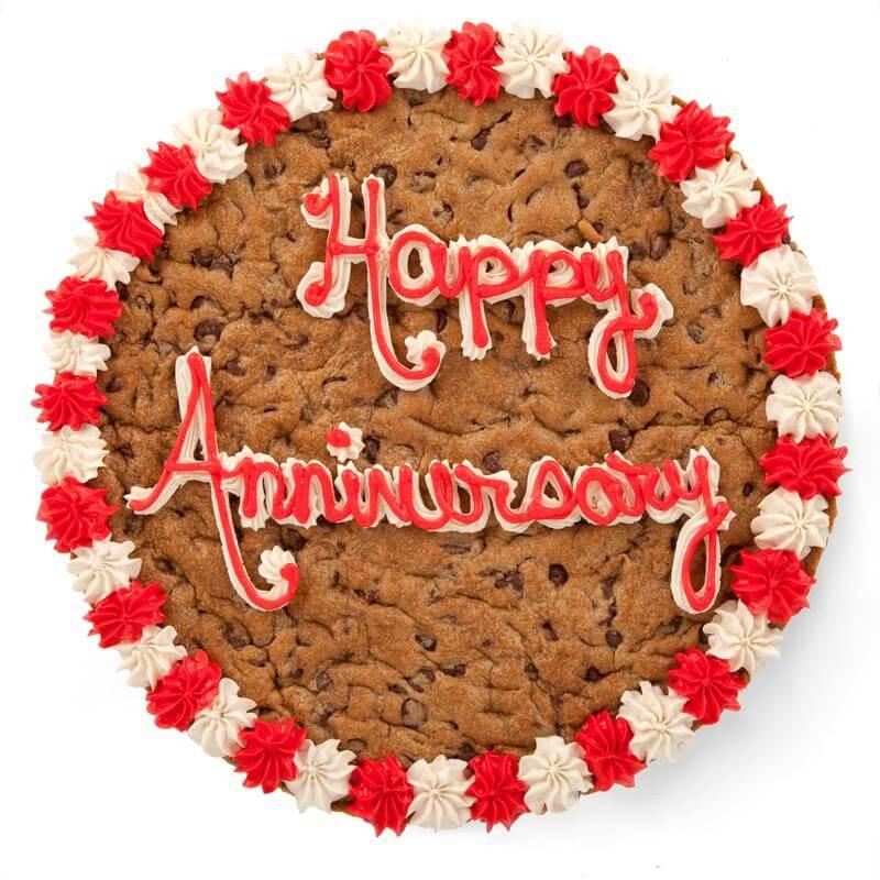 Happy Anniversary Big Cookie Cake