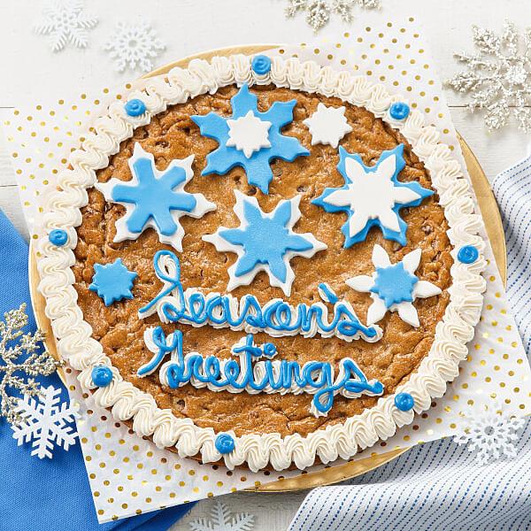 Snowfall Cookie Cake