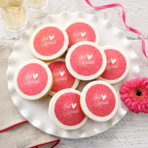 Just Married Logo Cookies