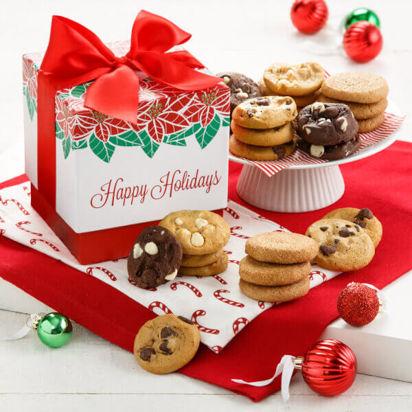 Poinsettia Perfect Nut-Free 24 Nibblers Gift Box
