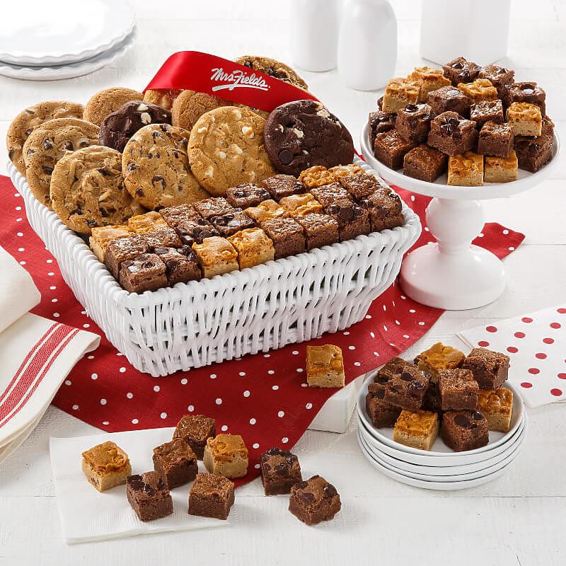 Dozen Cookies  Brownie Bites Basket