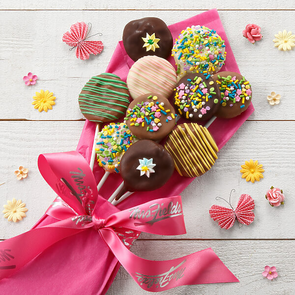 Mothers Day Belgian Chocolate-Covered Nibblers Bouquet