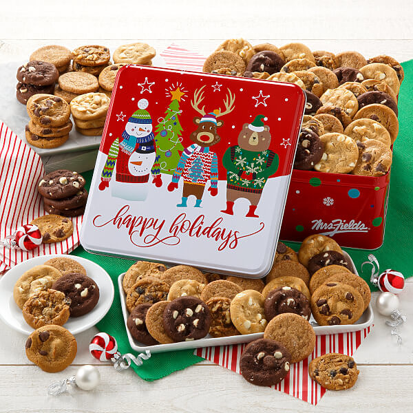 Happy Holidays 90 Nibblers Tin