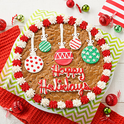Holiday Ornament Cookie Cake