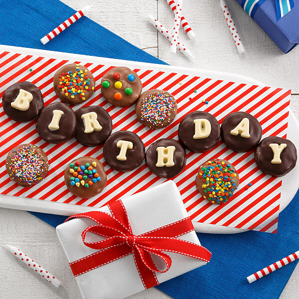 Birthday Belgian Chocolate Nibblers Cookie Grams