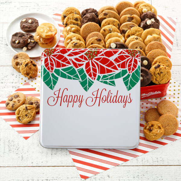 Happy Holidays 60 Nibblers Tin
