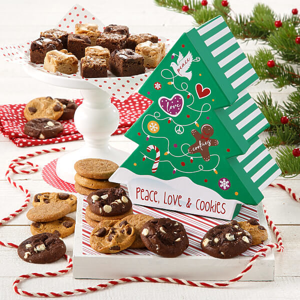 Peace Love Cookies Tree Box