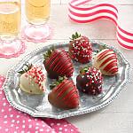 Full Half Dozen Valentines Day Belgian Chocolate Strawberries