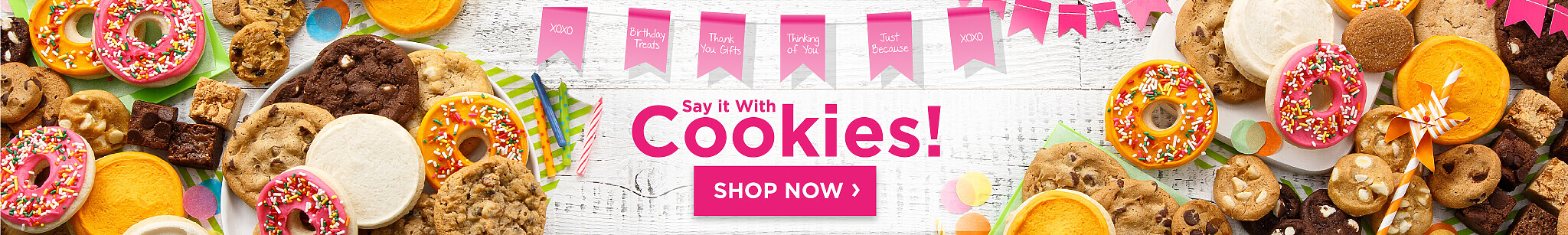 Say It With Cookies Shop Now.