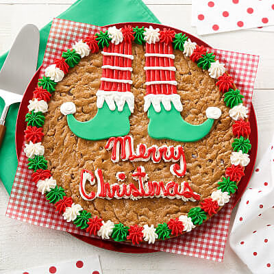 Elf Shoes Cookie Cake