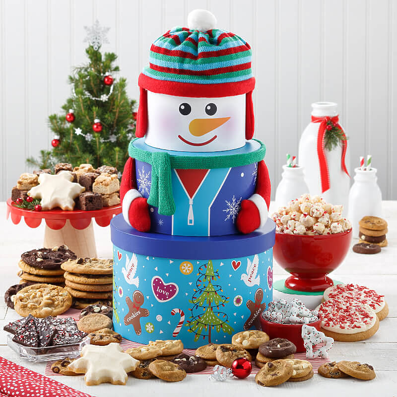 Abundant Snowman Cookie Tower