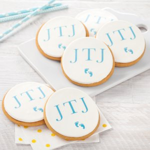 Footprint Birth-Day Logo Cookies