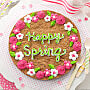 Happy Spring Cookie Cake