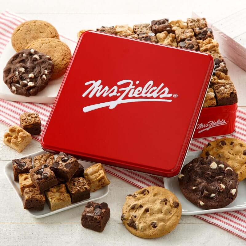 Mrs Fields Signature Cookie and Brownie Bites Tin