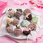Belgian Chocolate Strawberries  Nibblers Pop Combo