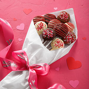 Love Belgian Chocolate-Covered Nibblers Bouquet